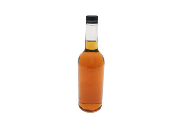 A generic whiskey bottle isolated on a white background