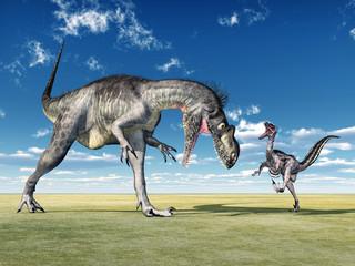 Megalosaurus und Velociraptor