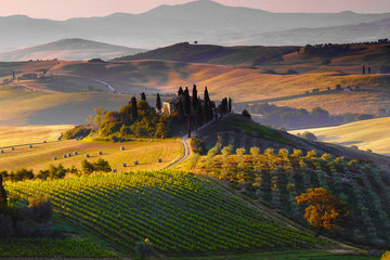 Toscana, Paesaggio. Italia Fototapete