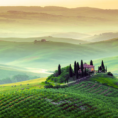 Wall Mural - Podere in Toscana, paesaggio italiano