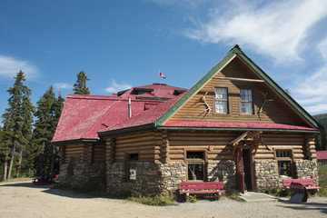 Icefield highway wood hut