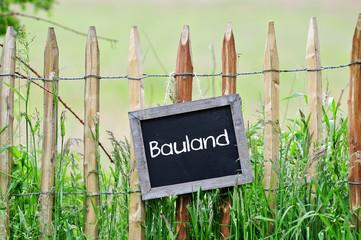 Fototapete - Bauland