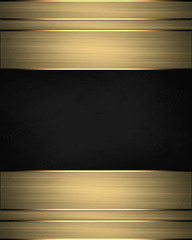 Beautiful gold background with a black nameplate for writing.