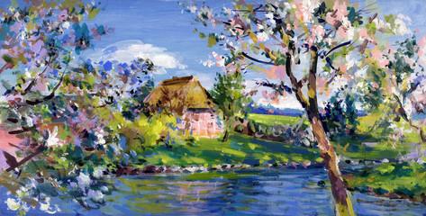 frühling landschaft malerei