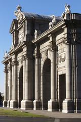 Alcala Gate in Madrid city