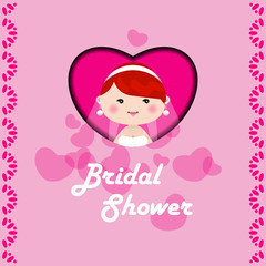 Bridal shower/wedding invitation template.