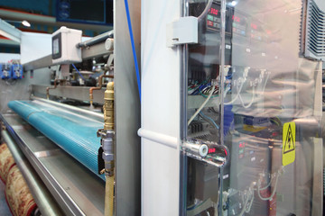 Demonstration and control device of machine for cleaning carpet