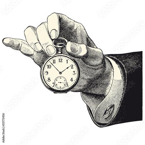 main d 39 homme tenant une montre fichier vectoriel libre de droits sur la banque d 39 images. Black Bedroom Furniture Sets. Home Design Ideas