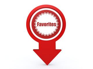 favorites arrow icon on white background