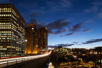 Cahill Expressway at Sunset