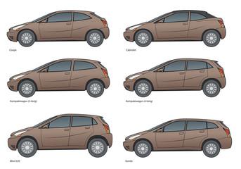 PKW- markenneutrale Modellreihe Farbe 2