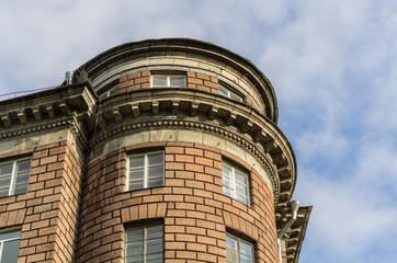 Closeup modern residential building