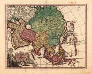 Asia vintage map