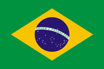 Photo sur Aluminium Brésil Brazil Flag