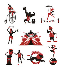 Circus. Collection of icons