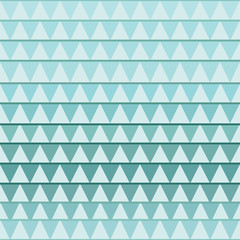 Poster ZigZag Seamless geometric pattern with turquoise triangle