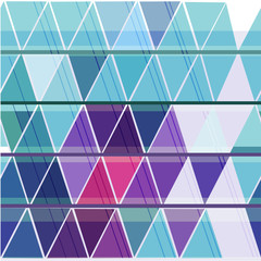 Poster ZigZag Seamless geometric pattern with colorful triangle