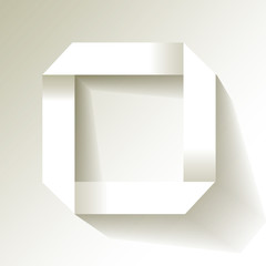 Papier Quadrat Origami Weiß