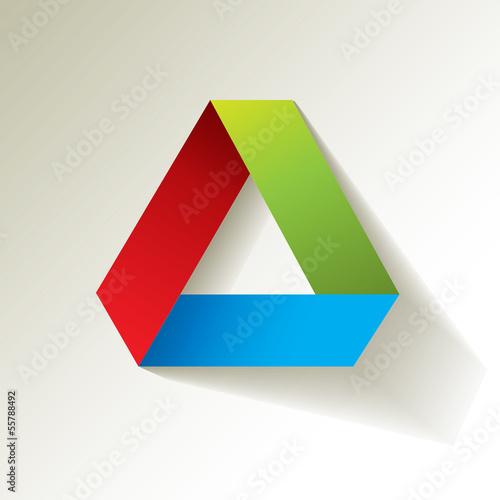 rgb dreieck papier origami stockfotos und lizenzfreie. Black Bedroom Furniture Sets. Home Design Ideas