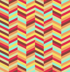 Self adhesive Wall Murals ZigZag Abstract colorful seamless pattern background. EPS10 file.
