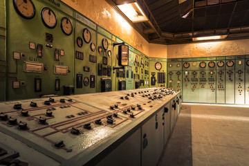 electric controller room in an old metallurgical firm
