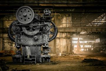 Foto auf Acrylglas Alte verlassene Gebäude old metallurgical firm waiting for a demolition