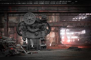 Foto auf Acrylglas Alte verlassene Gebäude old, metallurgical firm waiting for a demolition