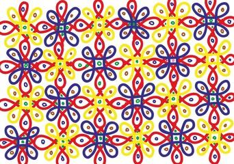 Foto op Textielframe Marokkaanse Tegels Daisy