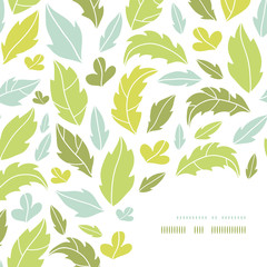 Vector leaves silhouettes corner decor pattern background with