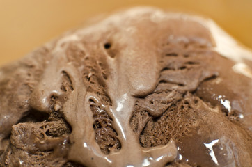 Cocoa and chocolate ice cream detailed surface