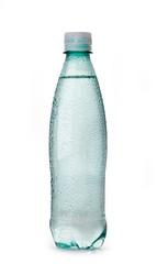 wet plastic bottle of water