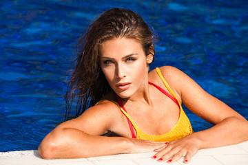 beauty in pool