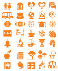Set of vector icons School and education.