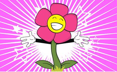 flower cartoon happy hug wallpaper