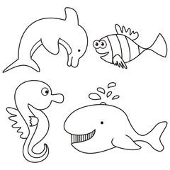 marine life - coloring
