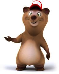 Papier Peint - Fun bear