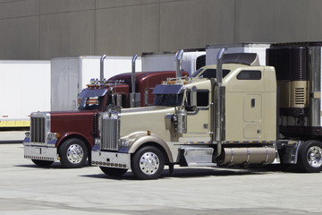 Big Rig Trucks at the Dock