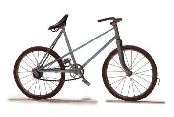 Old bike in studio