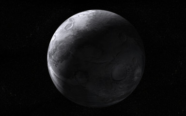Extraterrestrial moon-like planet