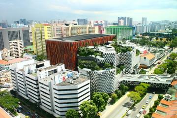 Foto op Plexiglas Singapore Down town Singapore Top view, Bugis Street District