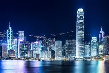 Keuken foto achterwand Hong-Kong Hong Kong landmark at night