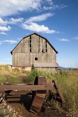 Old weathered barn.