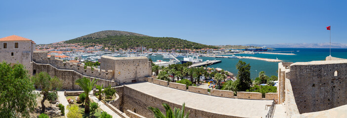 Printed kitchen splashbacks Turkey Panoramic view of Cesme from the castle, Turkey