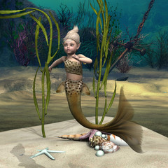 Photo sur Plexiglas Mermaid Little Mermaid