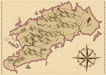 Vintage map. Vector.