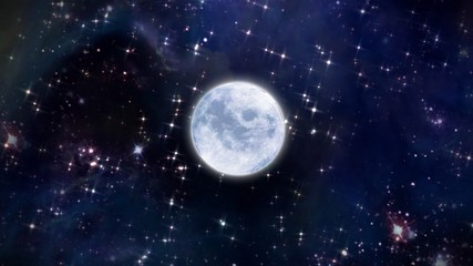moon in the space