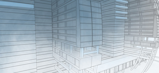 Sketch of the business center.