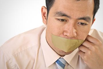 Silent businessman of Asian