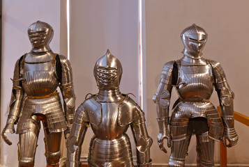 Foto op Canvas Ridders Armour of the knight in Ambras Palace - Innsbruck Austria