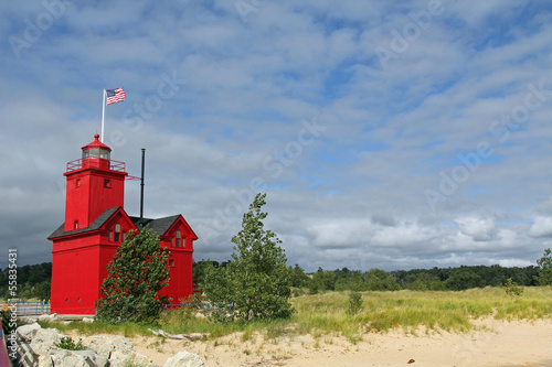Wall mural Big Red Lighthouse in Holland Michigan